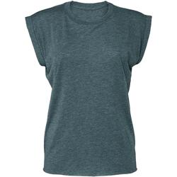 vaatteet Naiset Lyhythihainen t-paita Bella + Canvas BE8804 Heather Teal