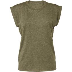 vaatteet Naiset Lyhythihainen t-paita Bella + Canvas BE8804 Heather Olive