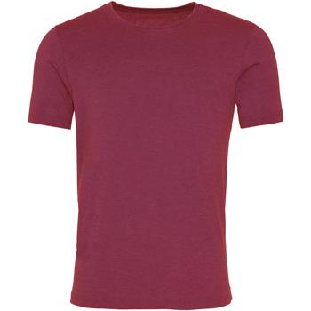 vaatteet Miehet Lyhythihainen t-paita Awdis JT099 Washed Burgundy