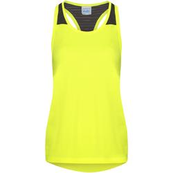 vaatteet Naiset Hihattomat paidat / Hihattomat t-paidat Awdis JC027 Electric Yellow