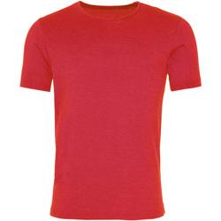 vaatteet Miehet Lyhythihainen t-paita Awdis JT099 Washed Fire Red