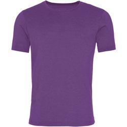 vaatteet Miehet Lyhythihainen t-paita Awdis JT099 Washed Purple