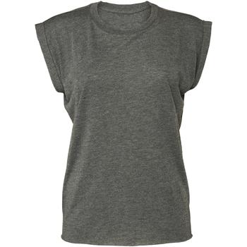 vaatteet Naiset Lyhythihainen t-paita Bella + Canvas BE8804 Dark Grey Heather