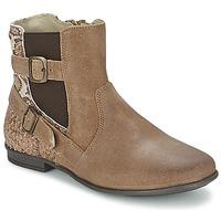 kengät Tytöt Bootsit Aster DESIA Taupe / Kuvioitu