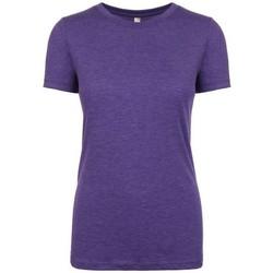vaatteet Naiset Lyhythihainen t-paita Next Level NX6710 Purple Rush