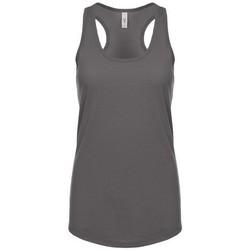 vaatteet Naiset Hihattomat paidat / Hihattomat t-paidat Next Level NX1533 Dark Grey