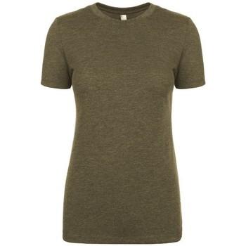 vaatteet Naiset Lyhythihainen t-paita Next Level NX6710 Military Green