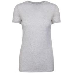 vaatteet Naiset Lyhythihainen t-paita Next Level NX6710 Heather White