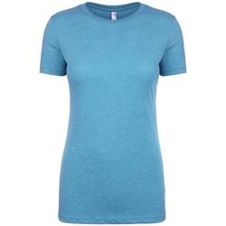 vaatteet Naiset Lyhythihainen t-paita Next Level NX6710 Vintage Turquoise