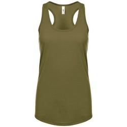 vaatteet Naiset Hihattomat paidat / Hihattomat t-paidat Next Level NX1533 Military Green