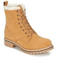 kengät Naiset Bootsit Casual Attitude EFUTIFE BEIGE