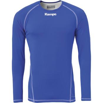 vaatteet Miehet T-paidat pitkillä hihoilla Kempa Maillot de compression ML  Attitude bleu roi