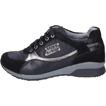 kengät Tytöt Tennarit Miss Sixty sneakers camoscio tessuto Nero