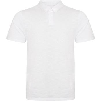 vaatteet Miehet Lyhythihainen poolopaita Awdis JP020 Slub White