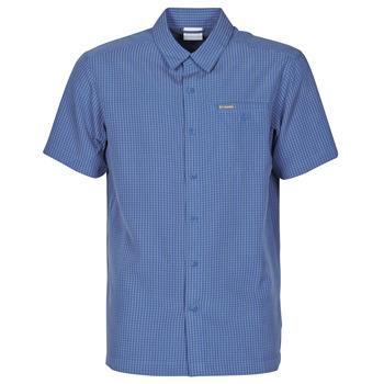 vaatteet Miehet Lyhythihainen paitapusero Columbia LAKESIDE TRAIL Sininen