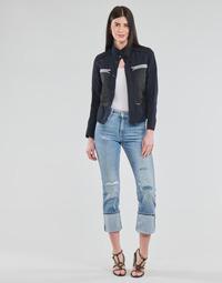 vaatteet Naiset Suorat farkut G-Star Raw NOXER HIGH STRAIGHT WMN Sininen