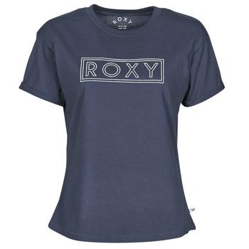 vaatteet Naiset Lyhythihainen t-paita Roxy EPIC AFTERNOON WORD Laivastonsininen