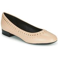 kengät Naiset Balleriinat Geox D WISTREY Pink / Kulta