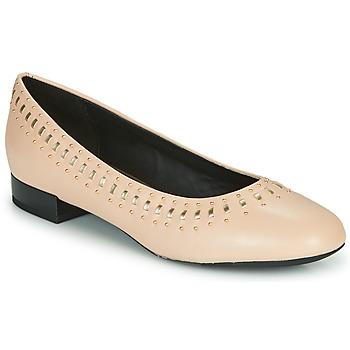 kengät Naiset Balleriinat Geox D WISTREY Vaaleanpunainen / Kulta