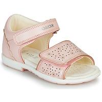 kengät Tytöt Sandaalit ja avokkaat Geox B VERRED Vaaleanpunainen