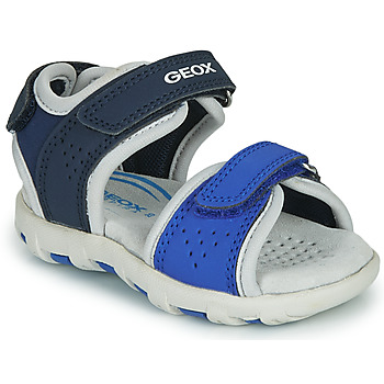 kengät Pojat Sandaalit ja avokkaat Geox B SANDAL PIANETA Blue