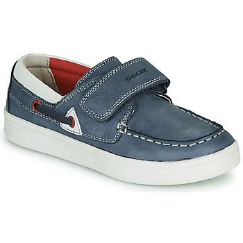 kengät Pojat Mokkasiinit Geox J DJROCK GARÇON Blue / White