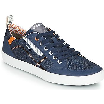 kengät Lapset Matalavartiset tennarit Geox JR KILWI GARÇON Blue