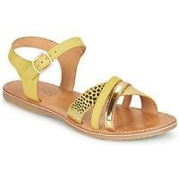 kengät Tytöt Sandaalit ja avokkaat Geox J SANDAL EOLIE GIRL Yellow / Kulta