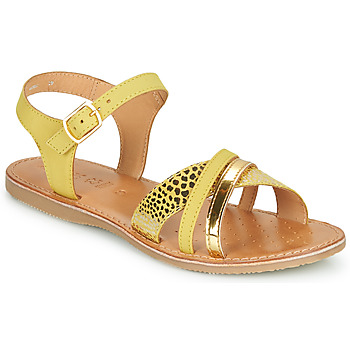 kengät Tytöt Sandaalit ja avokkaat Geox J SANDAL EOLIE GIRL Keltainen / Kulta