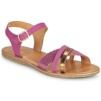 kengät Tytöt Sandaalit ja avokkaat Geox J SANDAL EOLIE GIRL Vaaleanpunainen / Kulta