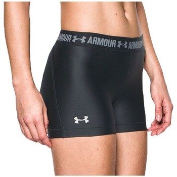 vaatteet Naiset Shortsit / Bermuda-shortsit Under Armour Heatgear Short Mustat