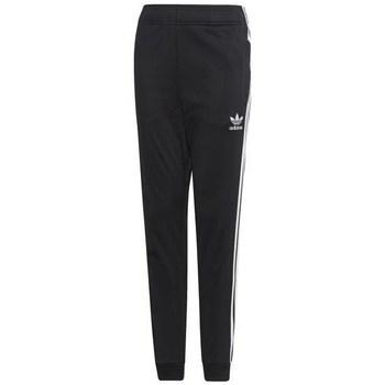 vaatteet Lapset Verryttelyhousut adidas Originals Junior Superstar Pants Mustat