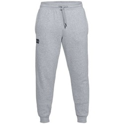 vaatteet Miehet Housut Under Armour Rival Fleece Jogger Harmaat