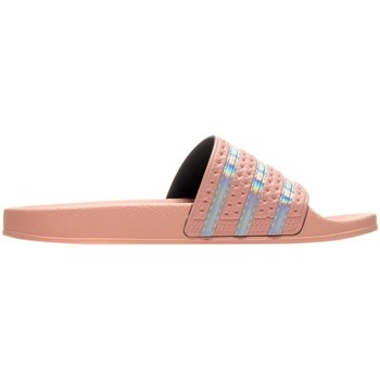 kengät Naiset Varvassandaalit adidas Originals Adilette W Vaaleanpunaiset
