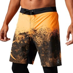 vaatteet Miehet Caprihousut Reebok Sport Splatter Short Mustat, Oranssin väriset