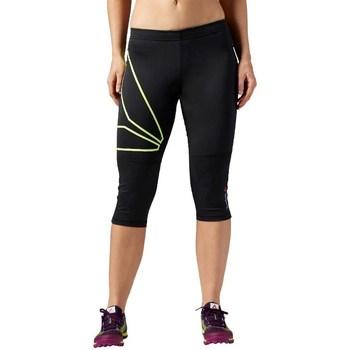 vaatteet Naiset Housut Reebok Sport 34 OS Running Capri Mustat