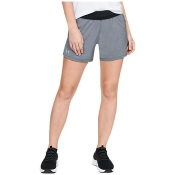 vaatteet Naiset Caprihousut Under Armour Launch SW GO Long Short Harmaat