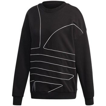 vaatteet Naiset Svetari adidas Originals Large Logo Sweatshirt Mustat