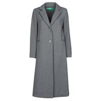 vaatteet Naiset Paksu takki Benetton  Harmaa
