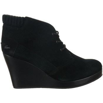 kengät Naiset Nilkkurit Lacoste Leren 4 Mustat