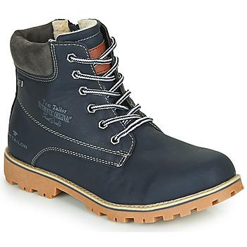 kengät Pojat Bootsit Tom Tailor 70502-NAVY Laivastonsininen