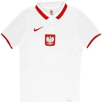 vaatteet Miehet Lyhythihainen poolopaita Nike Polska Breathe Home Valkoiset, Punainen