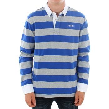 vaatteet Miehet Pitkähihainen poolopaita Pepe jeans FERDINAN PM541219 593 ROYAL BLUE Azul