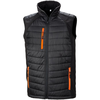 vaatteet Miehet Toppatakki Result R238X Black/Orange