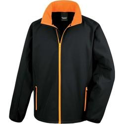 vaatteet Miehet Ulkoilutakki Result Veste  Softshell Printable noir/noir