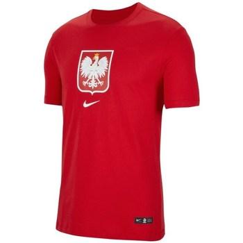 vaatteet Pojat Lyhythihainen t-paita Nike JR Polska Crest Punainen