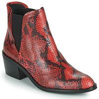 kengät Naiset Bootsit Fericelli  Black / Red