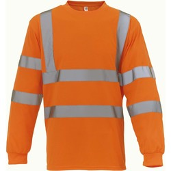 vaatteet T-paidat pitkillä hihoilla Yoko T-Shirt manches longues  Haute Visibilité orange