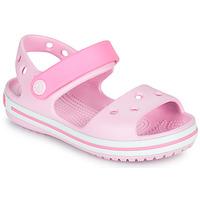 kengät Tytöt Sandaalit ja avokkaat Crocs CROCBAND SANDAL KIDS Vaaleanpunainen