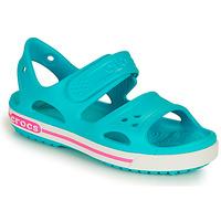 kengät Tytöt Sandaalit ja avokkaat Crocs CROCBAND II SANDAL PS Sininen / Vaaleanpunainen